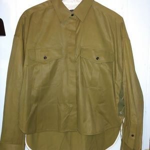 Rag and Bone olive green button up